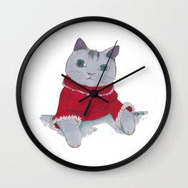 Cozy Cat Wall Clock