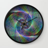 fractal Wall Clocks featuring Fractal by David Zydd