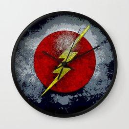 flash logo Wall Clock