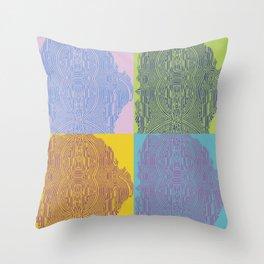 Pop Art Fingerprint Maze Abstract Throw Pillow