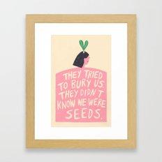 Women's March Poster 2017 Framed Art Print
