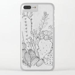 Desert Sketch Clear iPhone Case