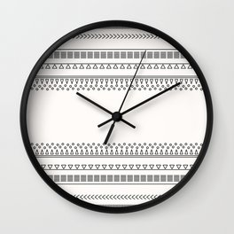 Tribal Pattern of Balondo Wall Clock