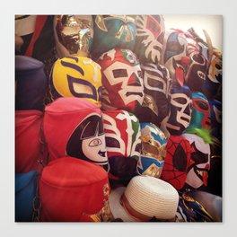 Lucha Libre Masks Canvas Print