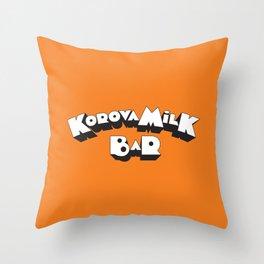 Korova Milk Bar Throw Pillow