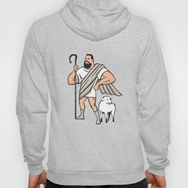 Superhero Shepherd Sheep Standing Cartoon Hoody