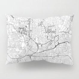 Atlanta White Map Pillow Sham