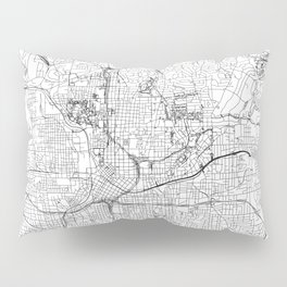 Atlanta White Map Pillow Sham