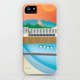 Jamaica - Skyline lllustration by Loose Petals iPhone Case