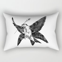 House Martin Rectangular Pillow