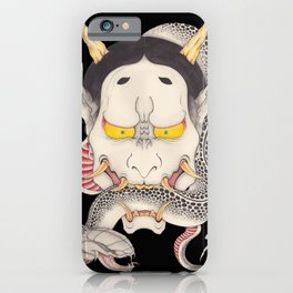hannya and snake iPhone Case