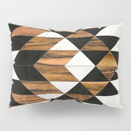 Urban Tribal Pattern 9 - Aztec - Concrete and Wood Pillow Sham