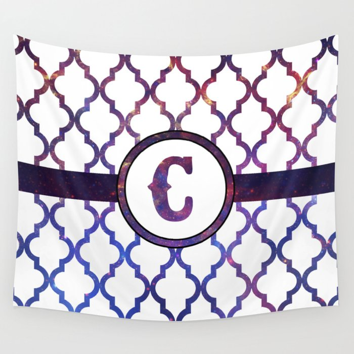 Galaxy Monogram: Letter C Wall Tapestry