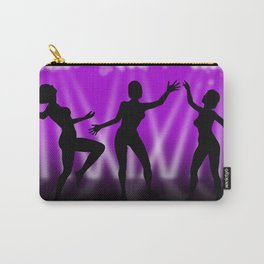 Dancing Girls On Purple With White Lights Carry-All Pouch