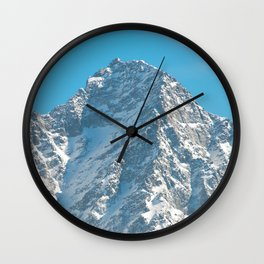 Snow Capped Mountain Wall Clock