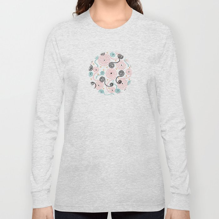 Spiralocity in Pink Long Sleeve T-shirt