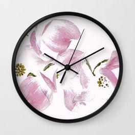 Dogwood Tree Flowers-pink Wall Clock