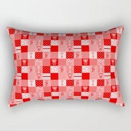 Jungle Friends Shades of Red Cheater Quilt Rectangular Pillow