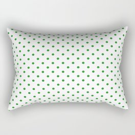 Dots (Forest Green/White) Rectangular Pillow