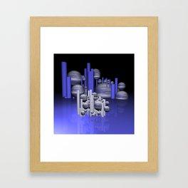 randomly distributed Framed Art Print