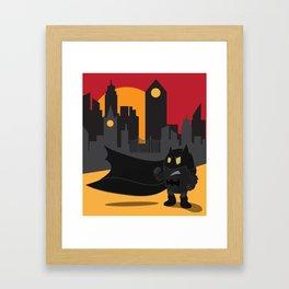 Urban monster Bat_man Framed Art Print