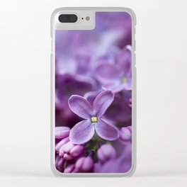Purple Lilac Clear iPhone Case