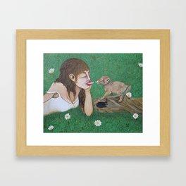 Coyote Summer Framed Art Print