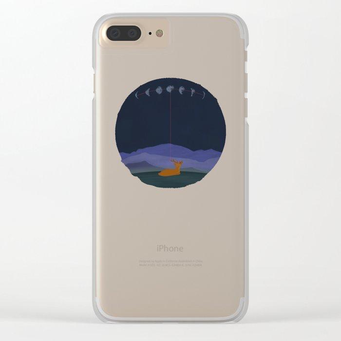 Lunatic Deer Clear iPhone Case