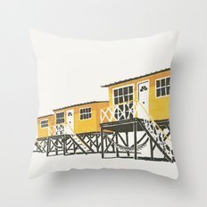 On Paper: Tres Amarillos Throw Pillow