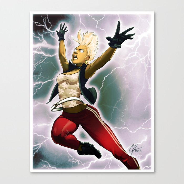 Weather Woman Canvas Print