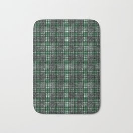 Classical black and emerald cell. Bath Mat