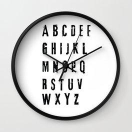 funny alphabet letter orginal gift Wall Clock
