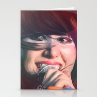 karen Stationery Cards featuring Karen O by Camila Fernandez