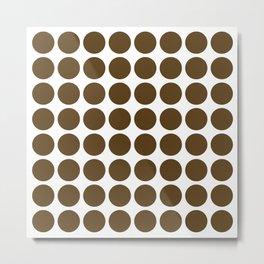 Pecan Neutral Dots Metal Print