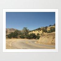 Caliente Creek Road Art Print