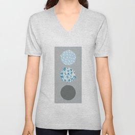 floral dots Unisex V-Neck