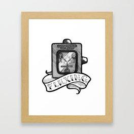 The Flux Capacitor Framed Art Print