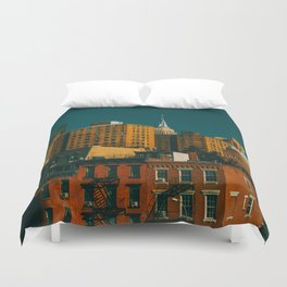 New York City Apartments (Color) Duvet Cover