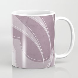 Spacial Orbiting Spiral in Musk Mauve Coffee Mug
