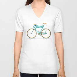 Miami Typo - Bike Unisex V-Neck