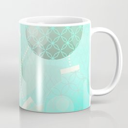 Silver and Mint Blue Christmas Ornaments Coffee Mug