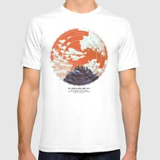 Base Camp White SMALL Mens Fitted Tee