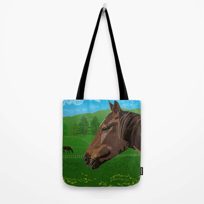 The Flower - The Horse  Tote Bag