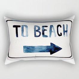 To the Beach Rectangular Pillow