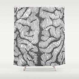 Brain vintage illustration Shower Curtain