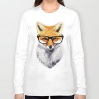 hipster Long Sleeve T-shirts featuring Mr. Fox by Isaiah K. Stephens