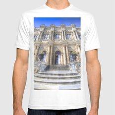Dolmabahce Palace Istanbul Mens Fitted Tee White MEDIUM