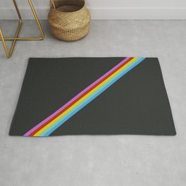 Aigikampoi - Thin Stripes on Black Rug