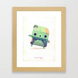 Zombie Bear Framed Art Print