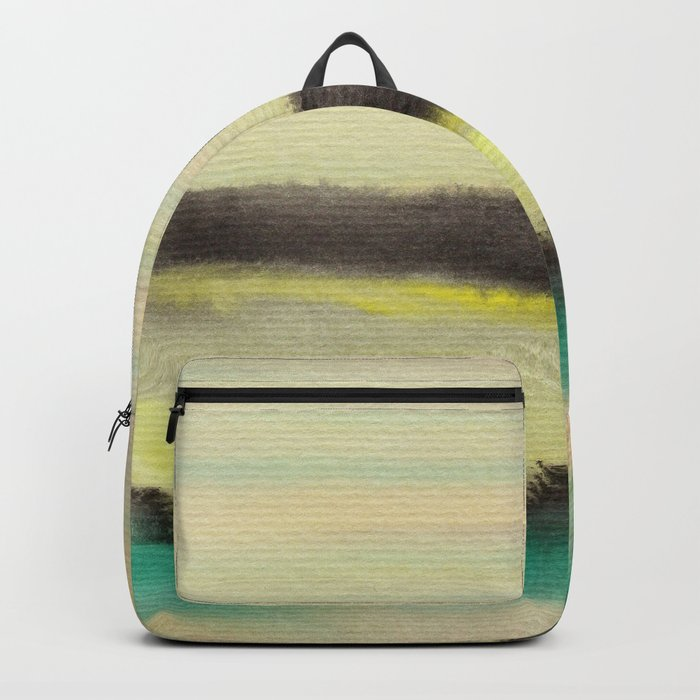 Watercolor abstract landscape 02 Backpack